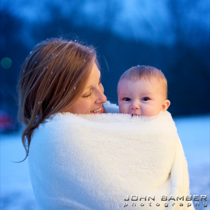 Lindsey and Jack in the snow